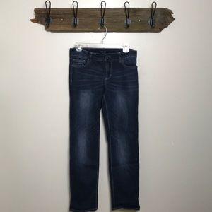 WHBM Jeans Straight Leg Crop Dark Rinse Size 6